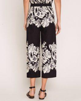 Pantaloni Cropped a Fiori Twin Set