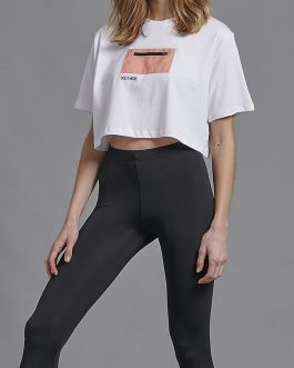 T-Shirt Crop Pocket Dolly Noire