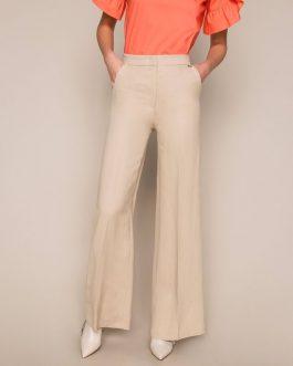 Pantaloni in Misto Lino Twin Set