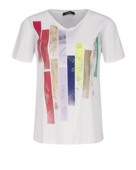 T-Shirt in Jersey Bianco Actitude