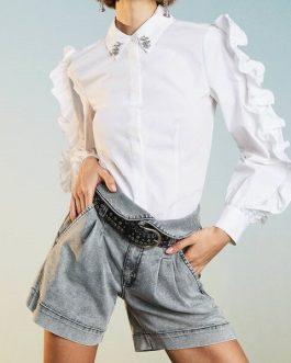 Camicia in Popeline Bianco Actitude