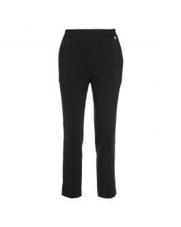 Pantalone in Tripla Georgette Nero Twin Set