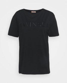 T-Shirt con Logo Nero Twin Set