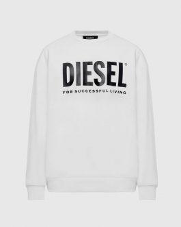 Felpa S-GIR-DIVISION-LOGO Bianco Diesel