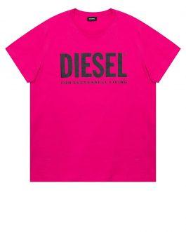 T-Shirt T-DIEGO-LOGO Fuxia Diesel