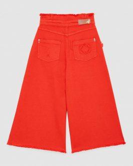 Pantalone Cropped Rosso Patrizia Pepe Kids