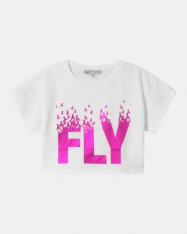 T-Shirt Fly Bianco Patrizia Pepe Kids