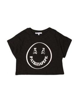 T-Shirt Let's Smile Nero Patrizia Pepe Kids
