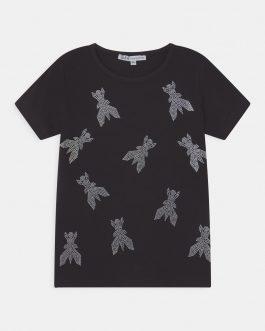 T-Shirt Fly Nero Patrizia Pepe Kids