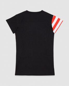 MaxiT-Shirt Face Nero Patrizia Pepe Kids