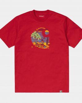 T-Shirt Beach C Rosso Carhartt