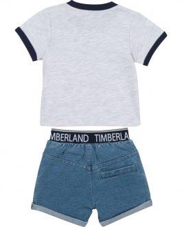 T-Shirt + Short Blu Timberland