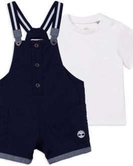 Salopette + T-Shirt Blu Timberland