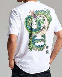 T-Shirt Son Goku White Bianco Dolly Noire