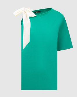 Maxi T-Shirt con Fiocco Verde Actitude
