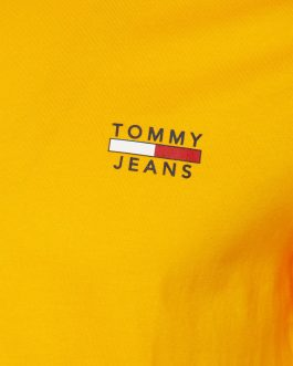 T-Shirt Basic Logo Giallo Tommy Jeans