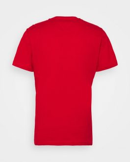 T-Shirt Logo Rosso Tommy Jeans
