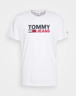 T-Shirt Logo Bianco Tommy Jeans
