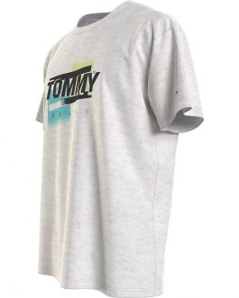 T-Shirt Faded Color Grigio Tommy Jeans