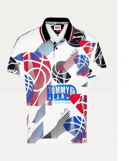 Polo Basketball Bianco Tommy Jeans