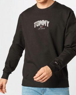 Felpa Lightweight Nero Tommy Jeans
