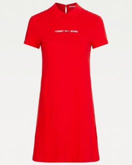 Abito Essential Polo Rosso Tommy Jeans