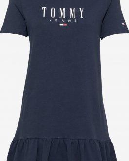 Abito Logo Peplum Navy Tommy Jeans