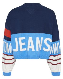 Cardigan Branded Multicolor Tommy Jeans