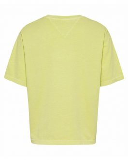 T-Shirt BXY Crop Tape Giallo Tommy Jeans