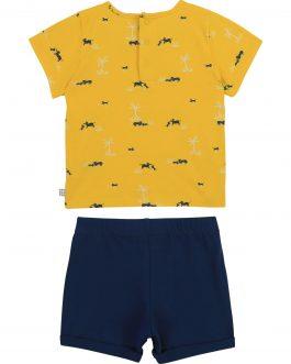 T-Shirt + Short Blu/Giallo Carrement Beau