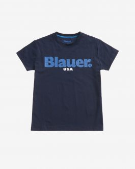 T-Shirt Manica Corta Blu Blauer Kids