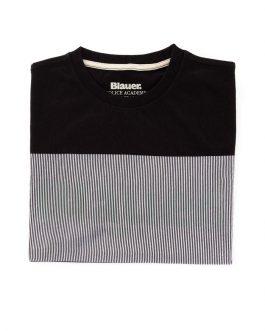 T-Shirt Manica Corta Nero Blauer Kids