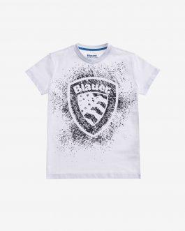 T-Shirt Manica Corta Bianco Blauer Kids