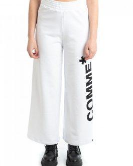 Pantalone Ampio in Felpa Bianco Comme Des Fuckdown