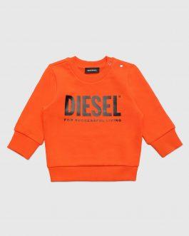 Felpa SCREWDIVISION-LOGOB Arancio Diesel Kids